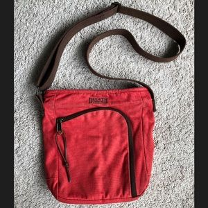 Duluth Trading Co. Red Canvas Crossbody Purse